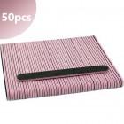 50db - Reszelő 80/80 - egyenes, fekete rózsaszín középrésszel