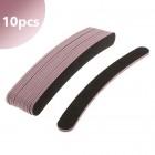 10db - Fekete reszelő rózsaszín középrésszel - egyenes, 80/80
