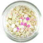 3mm visszfényes flitterek - gyöngyház fehér hatszögek