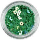 Díszítő lyukas négyzetek - smaragdzöld
