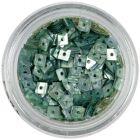 Hologrammos lyukas konfettik - acélkék négyzetek