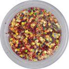 Színes konfettik, 1mm - hatszögek piros porban