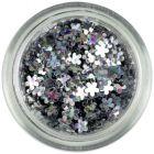 Kis virág - ezüst, hologramm