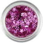 Kis virág - mályvarózsaszín, hologramm
