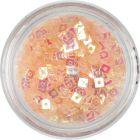Lyukas konfettik - világos barackszínű négyzetek