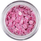 Flitter - halványrózsaszín, rózsaszín csíkok