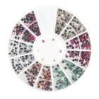 Körömdíszítő – kövek 2mm - különböző színek AB efekttel