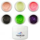 Gyöngyházfényes színes UV zselé készlet - Pearl, 6db