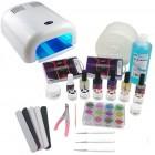 1-fázisú rendszer - UV zselé készlet nagy, 36W fehér UV lámpa