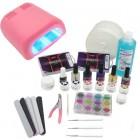 1-fázisú rendszer - UV zselé készlet, 36W rózsaszín UV lámpa