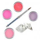 Pink készlet - színes porcelánpor készlet