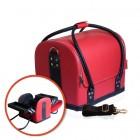 Szétnyitható kozmetikai bőrönd - RED/BLACK