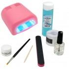 1-fázisú UV zselé rendszer - BASIC csomag, 36W rózsaszín UV lámpa