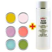 Sada Base Color 6ks + Acryl Liquid 100ml ZADARMO