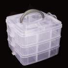 Műanyag doboz tárolóhellyel