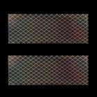 Körömdíszítő fólia - holografikus, rács motívummal