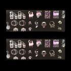 Körömdíszítő fólia - holografikus, csontváz motívummal