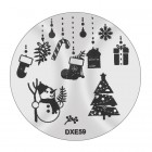 Pecsételő mintakorong DXE59 - Karácsony