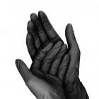 Fekete kesztyű - egyhasználatos M/10db