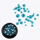 Swarovski kristályok -  nail art 1-5mm - kék
