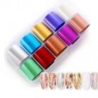 Körömdíszítő fólia szett - 10db - színes