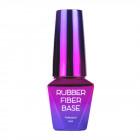 Építő UV/LED Gél lakk, Rubber Fiber Base – Silky Shimmer,10 /gél lakk készítésml