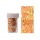 Körömdíszítő fólia – arany színben narancssárga hálóval