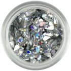 Könnycseppek - ezüst, hologrammos