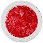Díszítő, piros háromszögek lyukkal