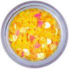 Dekorációs konfetti - aranysárga szívecskék