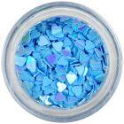 Dekorációs konfetti - kék szívecskék
