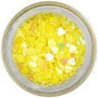 Dekorációs konfetti - sárga szívecskék