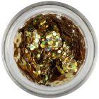 Lyukas virágok - arany, hologramm