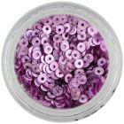 Lyukas karika – lilás rózsaszín nail art flitter