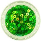 CD flitterek – zöld lyukas kör