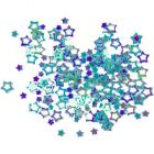 Dekorációs konfetti - világoskék csillagok