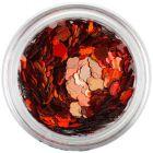 Narancssárgás piros nail art virág