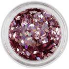 Nail art dísz - mályvarózsaszín gyémánt, hologramm