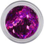 Lila flitterek aqua nail tipbe - gyémánt, hologramm