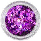 Konfettik - holografikus hatszögek, lila