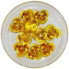 Körömdísz - aranysárga, 10db