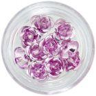 Kerámia körömdíszek, 10db - világos rózsaszín