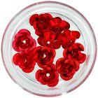Kerámia körömdíszek - piros rózsák, 10db