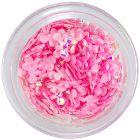 Körömdíszek - világos rózsaszín textil masnik