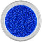 Körömdíszek - kék gyöngyök, 1mm