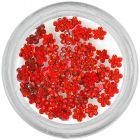Piros kövecskék, virágocskák