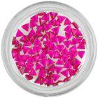 Körömdíszek - málna rózsaszín kövek, háromszögek