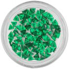 Smaragdzöld körömdíszítő kövecskék – háromszög