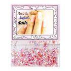 Rózsaszín körömdíszek - selyempelyhek
