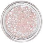 Holdacska alakú gyöngyházfényes díszek – finom rózsaszín